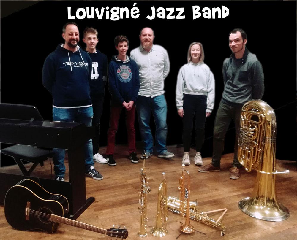 groupe de jazz de l'école de musique de Louvigné du Désert, fougères agglomératiohn