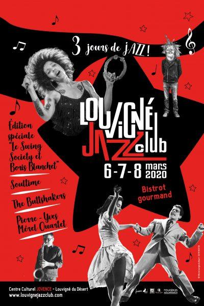 Affiche de l'édition 2020 du Louvigné Jazz Club