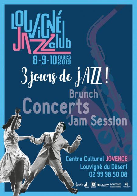 Affiche de l'édition 2019 du Louvigné Jazz Club